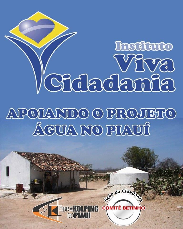 Instituto Viva Cidadania, Comitê Betinho e Kolping: mais 60 cisternas para o Piauí