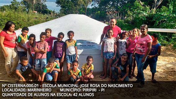 Cisternas escolares: Educação e Meio-Ambiente
