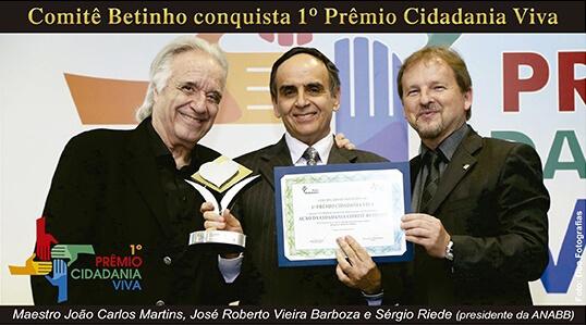Comitê Betinho conquista 1° Prêmio Cidadania Viva